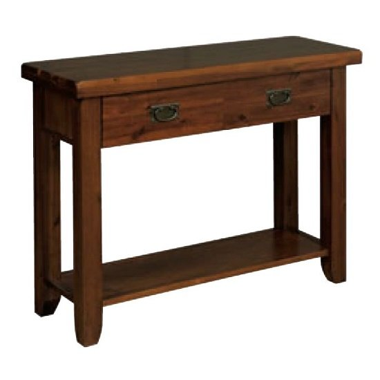 Roscrea Wooden Hall Table In Rich Acacia Finish With Drawer