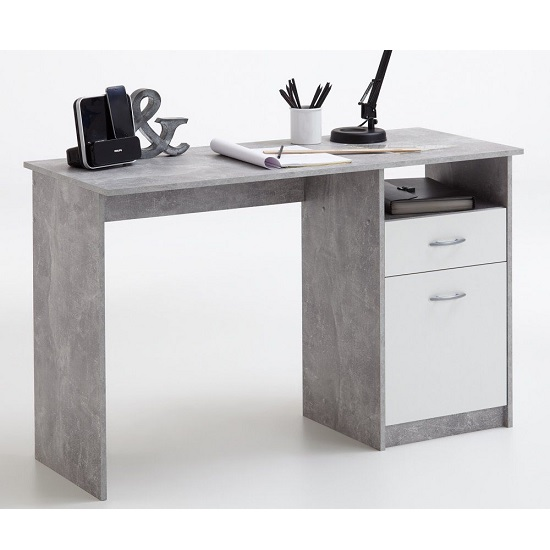 Rosemary Contemporary Computer Desk In Light Atelier And White_1