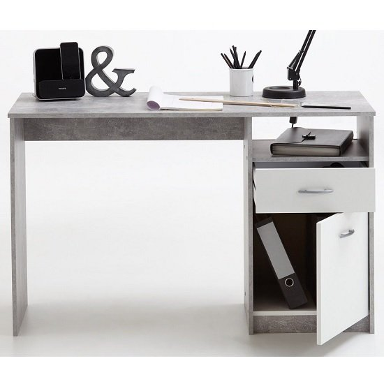 Rosemary Contemporary Computer Desk In Light Atelier And White_4