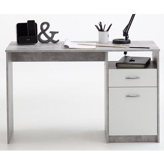 Rosemary Contemporary Computer Desk In Light Atelier And White_3