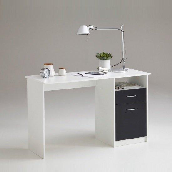 Photo of Rosemary contemporary computer desk in white and black
