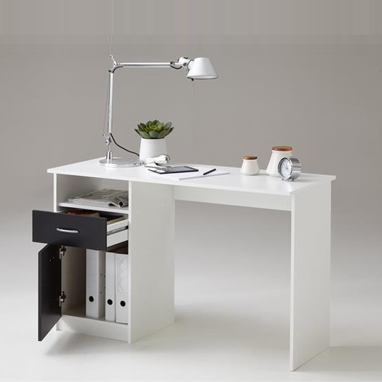 Rosemary Contemporary Computer Desk In White And Black_2