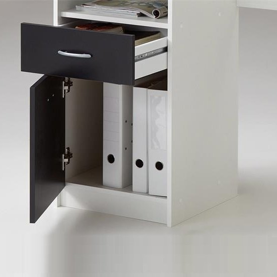 Rosemary Contemporary Computer Desk In White And Black_3