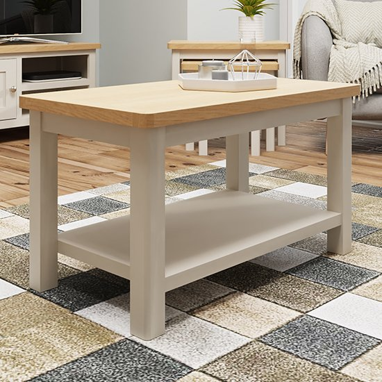 View Rosemont wooden coffee table in dove grey