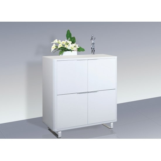 Roseta Storage Cabinet In White High Gloss With 4 Doors
