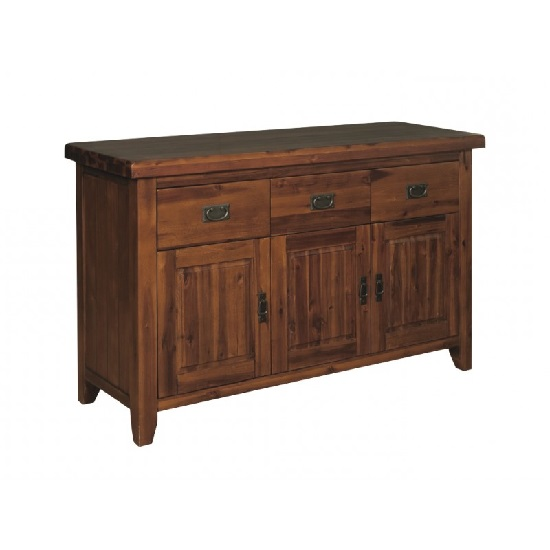Ross Wooden Sideboard In Acacia Finish With Three Doors