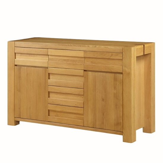 Rossdale Wooden Sideboard In Solid Oak With 2 Doors