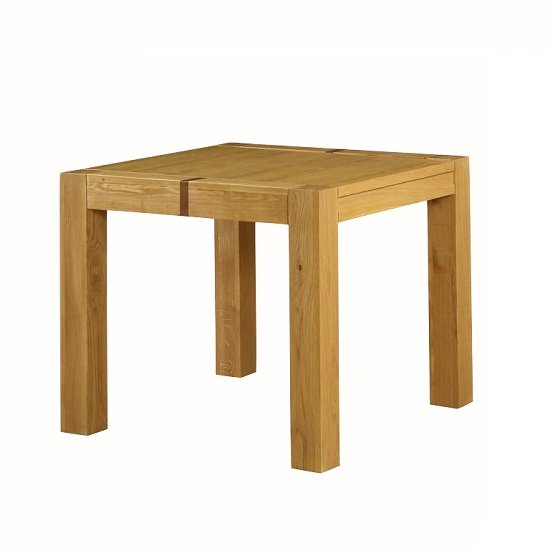 Rossdale Wooden Square Dining Table In Solid Oak
