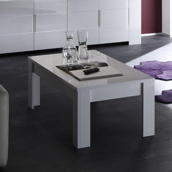 Rossini Modern Coffee Table Rectangular In White Gloss