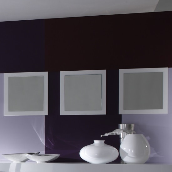 Rossini Set Of 3 Wall Mirror Square In White Gloss_1