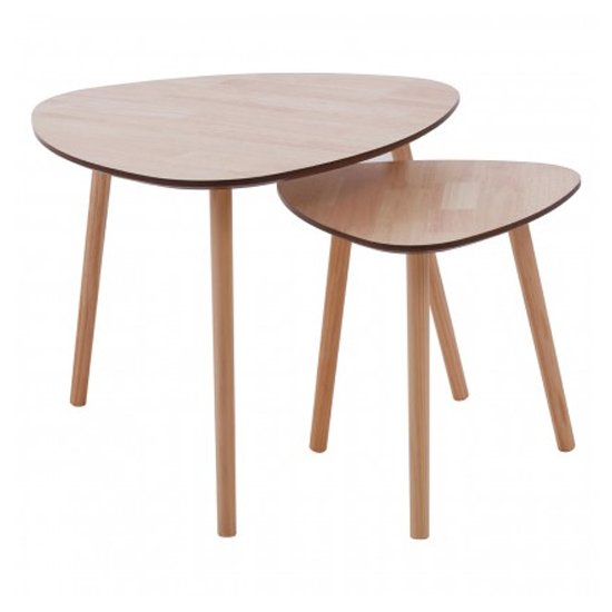 Rosta Wooden Pair Of Side Tables In Natural