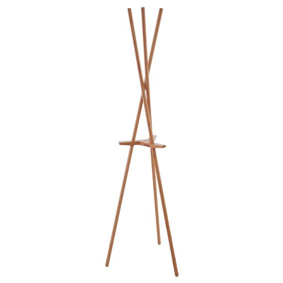Rostak Bamboo Wooden Coat Stand In Natural