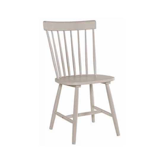 Rotanev Wooden Dining Chair In Stone Grey