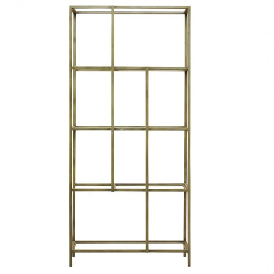 Rothmont Glass Display Unit With Champagne Metal Frame