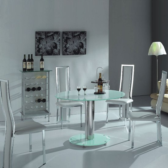round white glass dining vo1rndWH - Plain Living Room Colors That Work Really Well