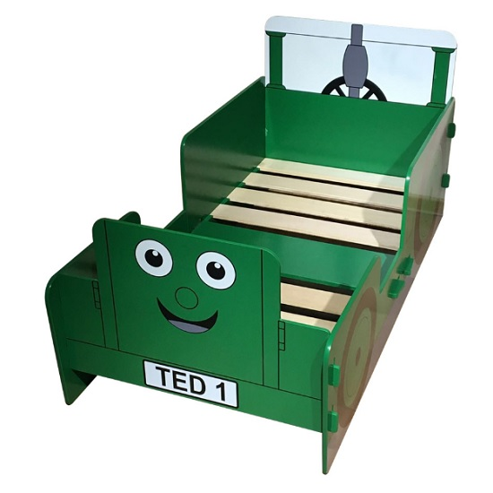 Rowan Tractor Ted Junior Toddler Bed In Green_2