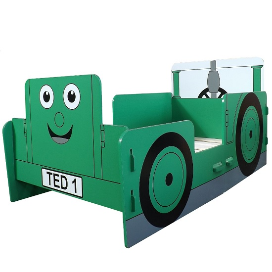 Rowan Tractor Ted Junior Toddler Bed In Green_3