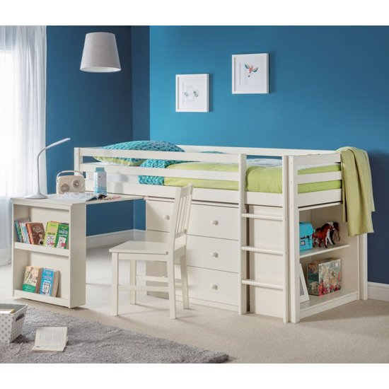 Roxy Sleepstation Bunk Bed In Stone White Lacquer_1