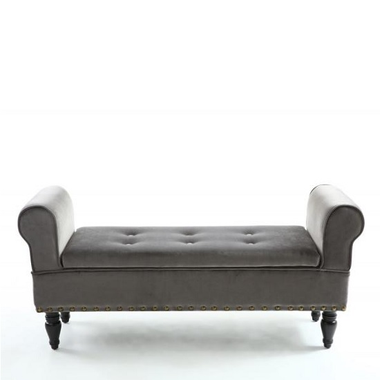 Royce Ottoman Storage Chaise In Grey Velvet With Wooden Legs_2