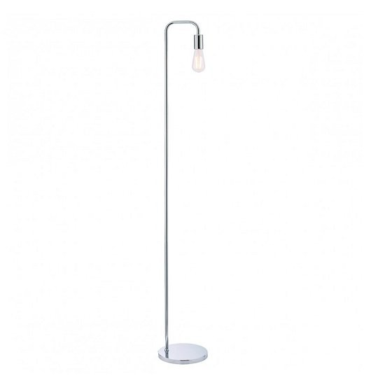 Rubens Floor Lamp In Chrome Finish