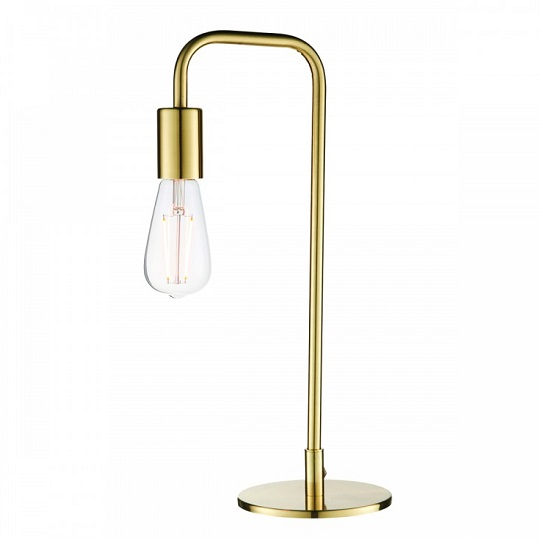 Rubens Table Lamp In Brushed Gold Finish