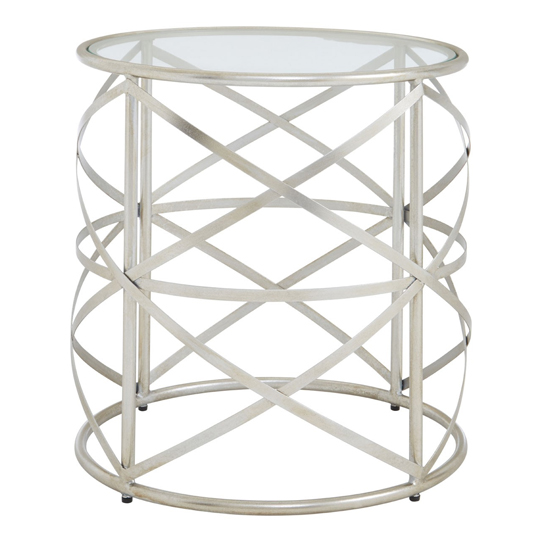 Muscida Tempered Glass Side Table With Iron Legs    _1