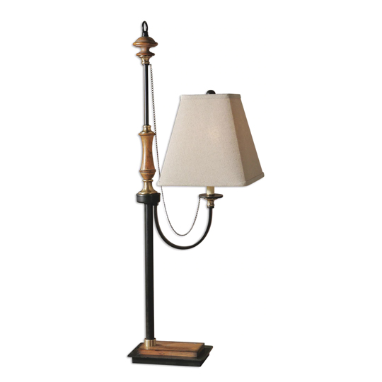 Rubiera Table Lamp With Coffee Bronze Accents