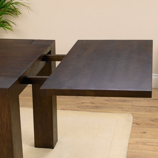 dining tables rubis wooden dining table rectangular in dark solid oak