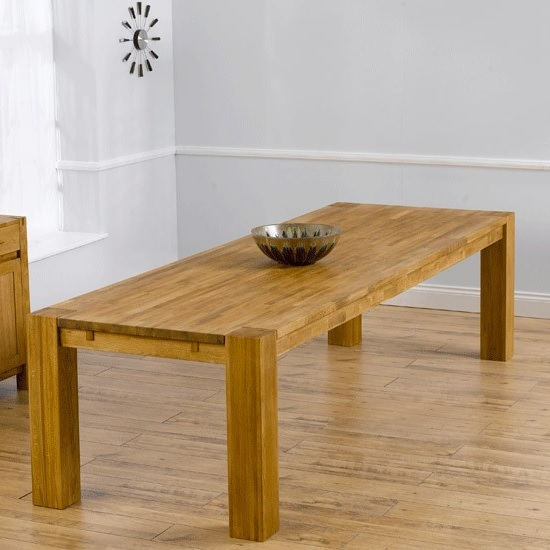 Rubis Wooden Extra Large Dining Table Rectangular In Solid Oak