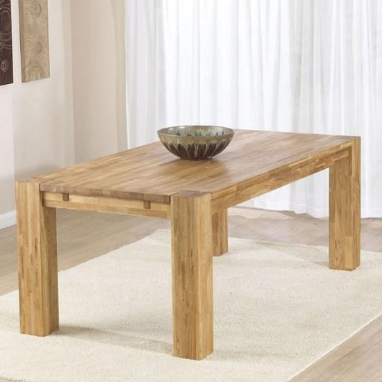 Rubis Wooden Dining Table Rectangular In Solid Oak
