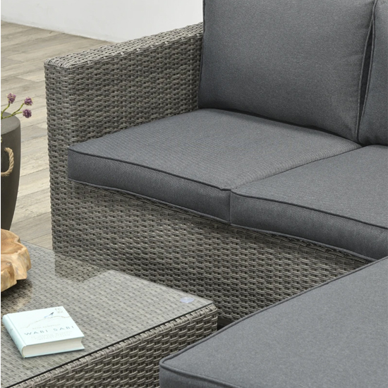 Rudesole Sofa Group With Coffee Table In Organic Grey_8