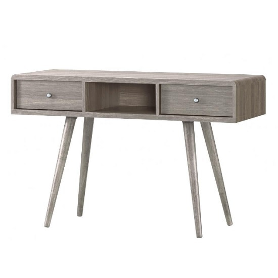 Rufford Wooden Dressing Table In Grey Oak Effect With 2 Drawers