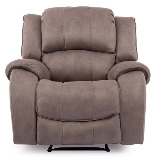 Ryan Textured Fabric 1 Seater Electric Recliner Chair In Smoke