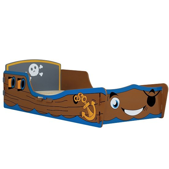 Rylee Pirate Junior Toddler Bed In Blue And Brown