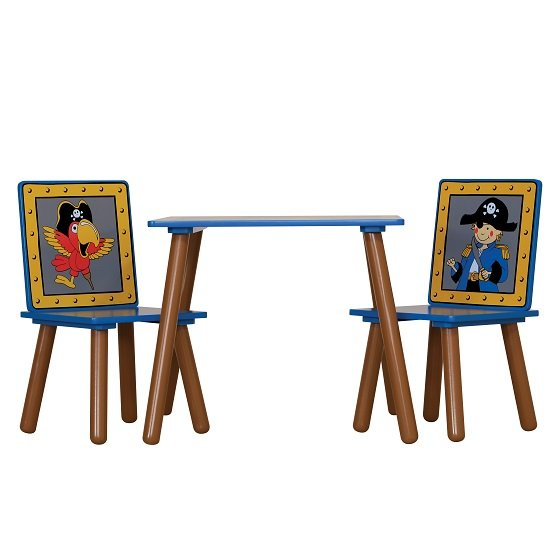 Rylee Pirate Table And Chairs In Blue And Brown_2