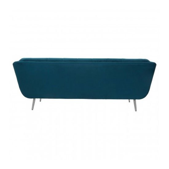 Sabina 3 Seater Fabric Sofa In Teal_3
