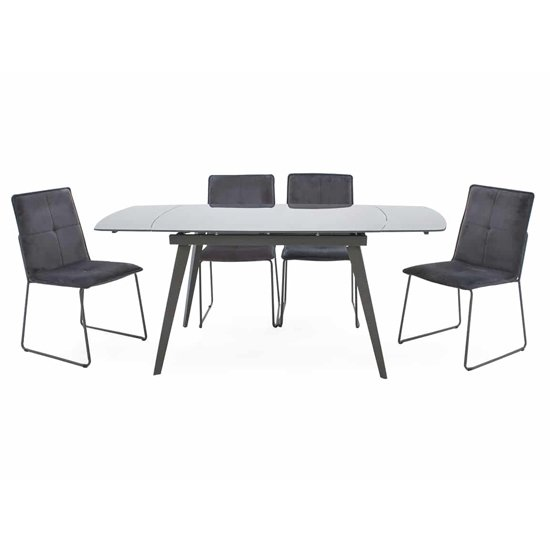 Sabina Extending Glass Dining Table In Grey_2