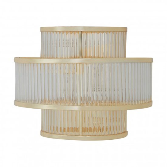 Salas Fluted Pattern 3 Tier Wall Light In Gold