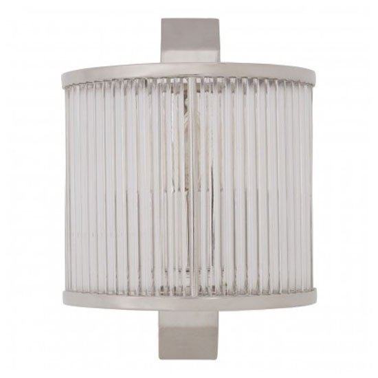 Salas Ribbed Pattern Wall Light In Nickel