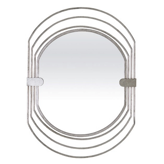 Salford Contemporary Wall Mirror Oval In Silver