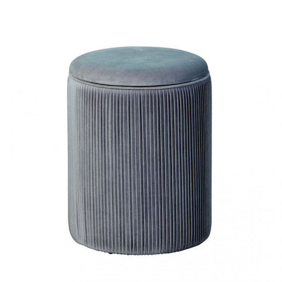 Salim Fabric Storage Ottoman Stool In Grey