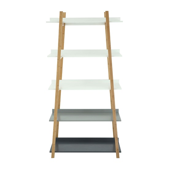 Nusakan Five Tier Shelving Unit In Wooden Finish