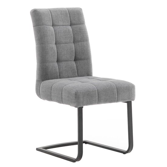 Salta Fabric Upholstered Dining Chair In Grey