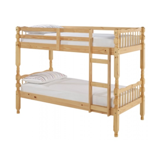 Salvador Wooden Bunk Bed In Pine With Ladder