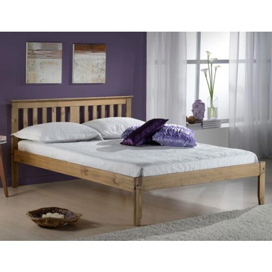 Salvador Wooden Single Bed In Antique Pine
