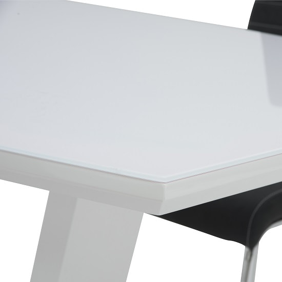 Samson Glass Dining Table Rectangular In White High Gloss_2