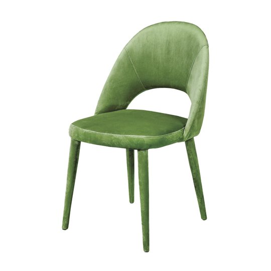 Sancerre Velvet Dining Chair In Light Green