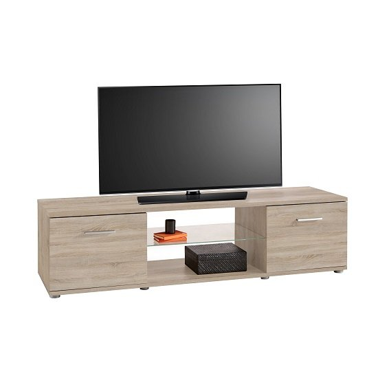 Discount Kitchen Cabinets San Diego: San Diego Wooden TV Stand In Brushed Oak With 2 Doors 28429