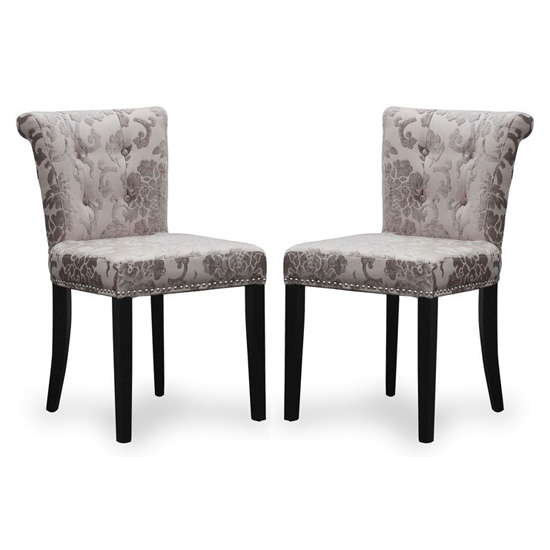 Sandringham Mink Baroque Velvet Accent Chairs In Pair_1