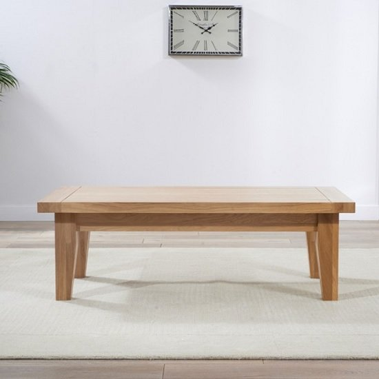 Sandringham Wooden Coffee Table Rectangular In Oak
